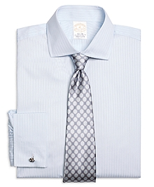 Golden Fleece® Regent Fit Dobby Split Stripe French Cuff Dress Shirt