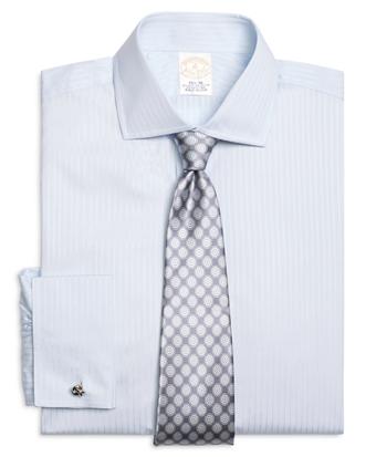 Golden Fleece® Regent Fit Dobby Split Stripe French Cuff Dress Shirt