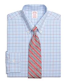 Non-Iron Madison Fit Triple Alternating Windowpane Dress Shirt