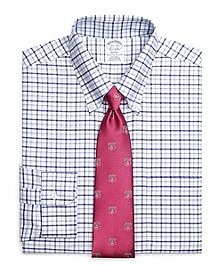 Non-Iron Regent Fit BrooksCool® Framed Alternating Windowpane Dress Shirt