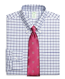 Non-Iron Milano Fit BrooksCool® Framed Alternating Windowpane Dress Shirt
