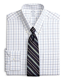 Non-Iron Regent Fit Alternating Windowpane Dress Shirt