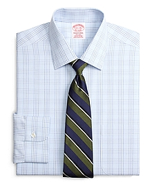 Non-Iron Traditional Fit Glen Plaid Dress Shirt