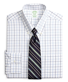 Non-Iron Milano Fit Alternating Windowpane Dress Shirt