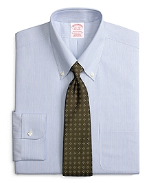 Non-Iron Traditional Fit Split Stripe Dress Shirt