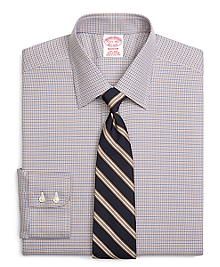 Non-Iron Madison Fit Micro Tattersall Dress Shirt