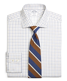 Non-Iron Regent Fit Sidewheeler Windowpane Dress Shirt