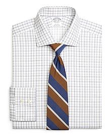 Non-Iron Regent Fit Sidewheeler Windowpane Dress Shirt