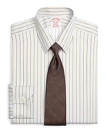 Non-Iron Madison Fit Tonal Stripe Dress Shirt