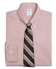 Non-Iron Regent Fit Micro Check Dress Shirt
