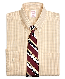 Non-Iron Madison Fit Micro Check Dress Shirt