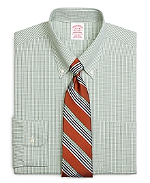 Non-Iron Traditional Fit Micro Check Dress Shirt