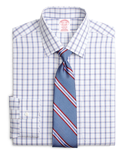 Non-Iron Madison Fit Twin Plaid Dress Shirt