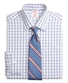 Non-Iron Madison Fit Twin Plaid Dress Shirt