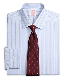 Non-Iron Traditional Fit End-on-End Stripe Dress Shirt