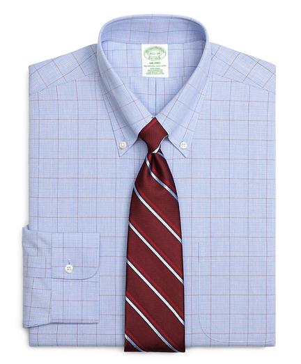 Milano Slim-Fit Dress Shirt, Non-Iron Glen Plaid