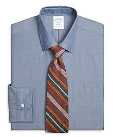 Regent Fit Chambray Dobby Dress Shirt