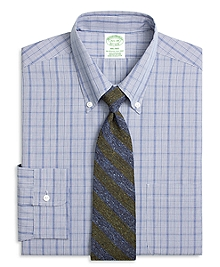 Milano Fit Chambray Glen Plaid Dress Shirt