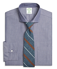 Milano Fit Chambray Pinstripe Dress Shirt