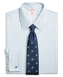 Non-Iron Madison Fit Triple Tattersall French Cuff Dress Shirt