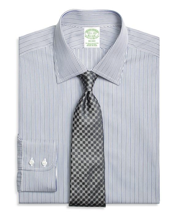 Milano Slim-Fit Dress Shirt, Rope Stripe Blue