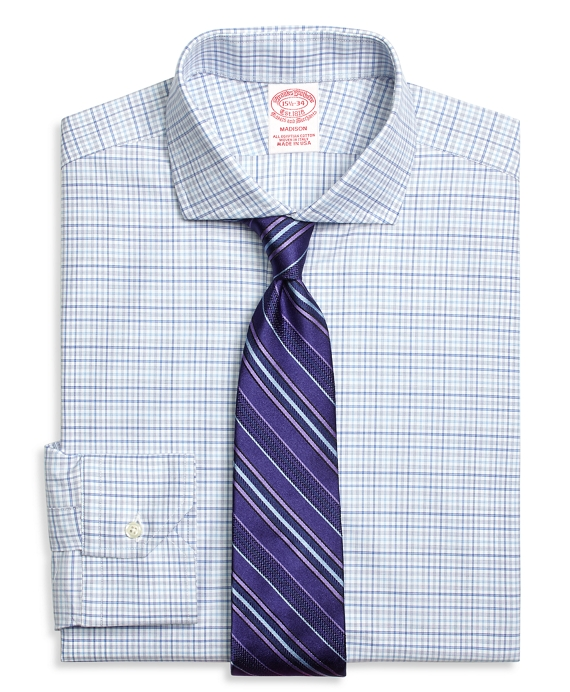 Madison Classic-Fit Dress Shirt, Triple Check