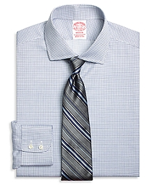 Madison Fit Textured Micro Check Dress Shirt