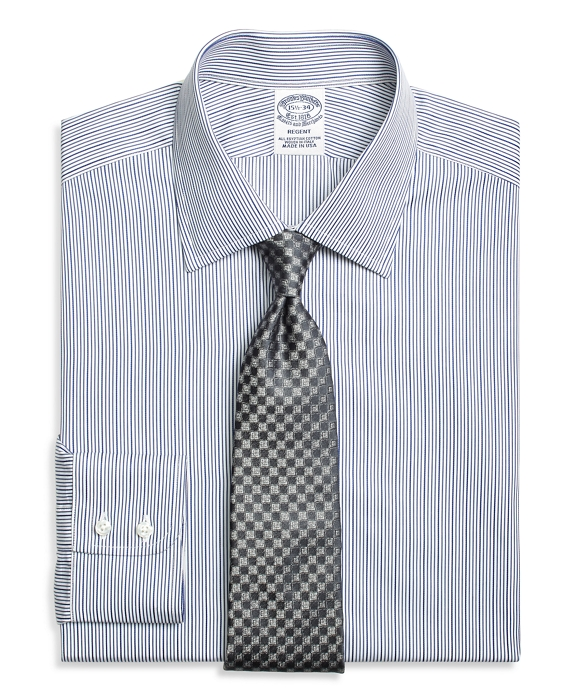 Regent Fitted Dress Shirt, Rope Stripe