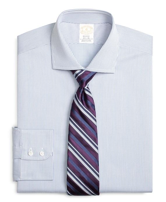 Golden Fleece® Regent Fitted Dress Shirt, Shadow Check Blue