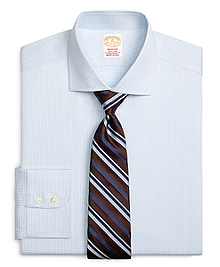 Golden Fleece® Madison Fit Textured Windowpane Dress Shirt