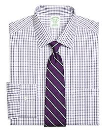 Non-Iron Milano Fit Triple Twin Check Dress Shirt