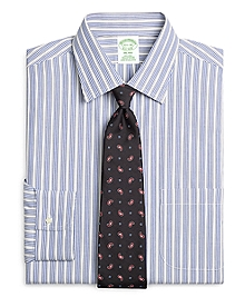Non-Iron Milano Fit Framed Triple Stripe Dress Shirt