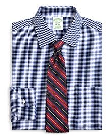 Non-Iron Milano Fit Framed Gingham Dress Shirt
