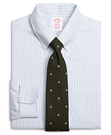Non-Iron Madison Fit BrooksCool® Alternating Candy Stripe Dress Shirt