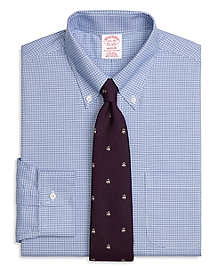 Non-Iron Madison Fit BrooksCool® Houndstooth Dress Shirt