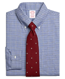 Non-Iron Madison Fit BrooksCool® Glen Plaid Dress Shirt