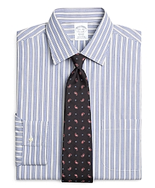 Non-Iron Regent Fit Framed Triple Stripe Dress Shirt