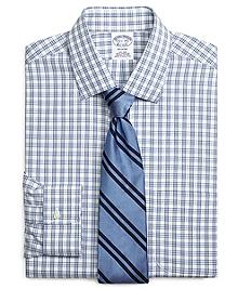 Non-Iron Regent Fit Framed Split Check Dress Shirt