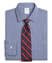 Non-Iron Regent Fit Framed Gingham Dress Shirt