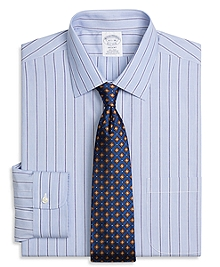 Non-Iron Regent Fit Hairline Split Stripe Dress Shirt