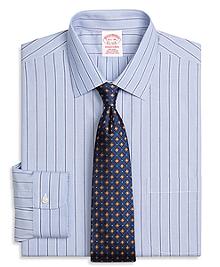 Non-Iron Traditional Fit Hairline Split Stripe Dress Shirt