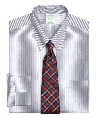 Non-Iron Milano Fit Twin Stripe Dress Shirt