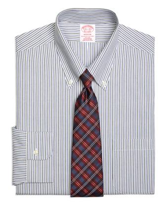 Non-Iron Madison Fit Twin Stripe Dress Shirt
