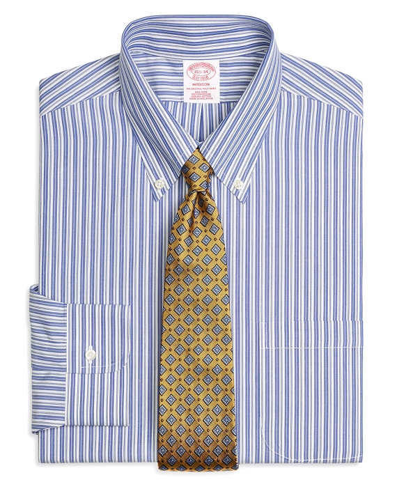 Madison Classic-Fit Dress Shirt, Non-Iron Bold Split Stripe