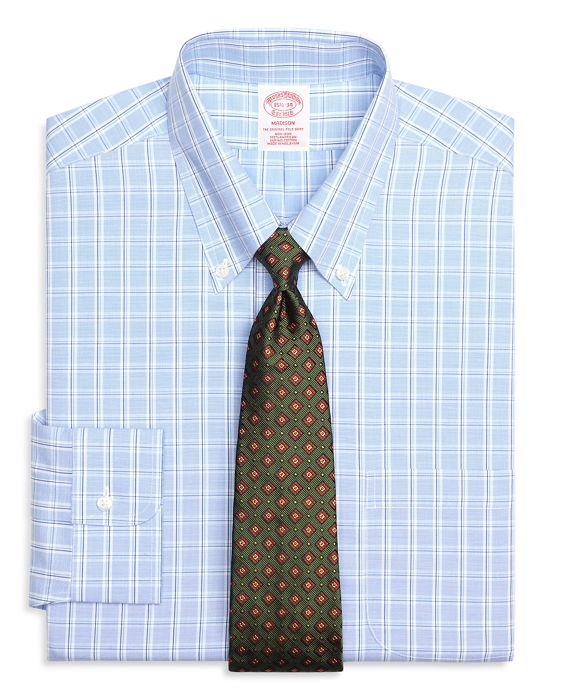 Madison Classic-Fit Dress Shirt, Non-Iron Alternating Twin Check