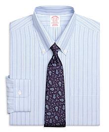 Non-Iron Madison Fit Track Stripe Dress Shirt