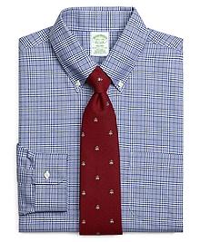 Non-Iron Milano Fit BrooksCool® Glen Plaid Dress Shirt