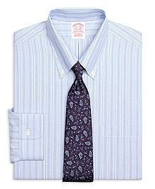 Non-Iron Traditional Fit Track Stripe Dress Shirt