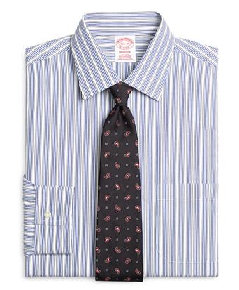Non-Iron Madison Fit Framed Triple Stripe Dress Shirt