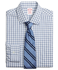 Non-Iron Madison Fit Framed Split Check Dress Shirt